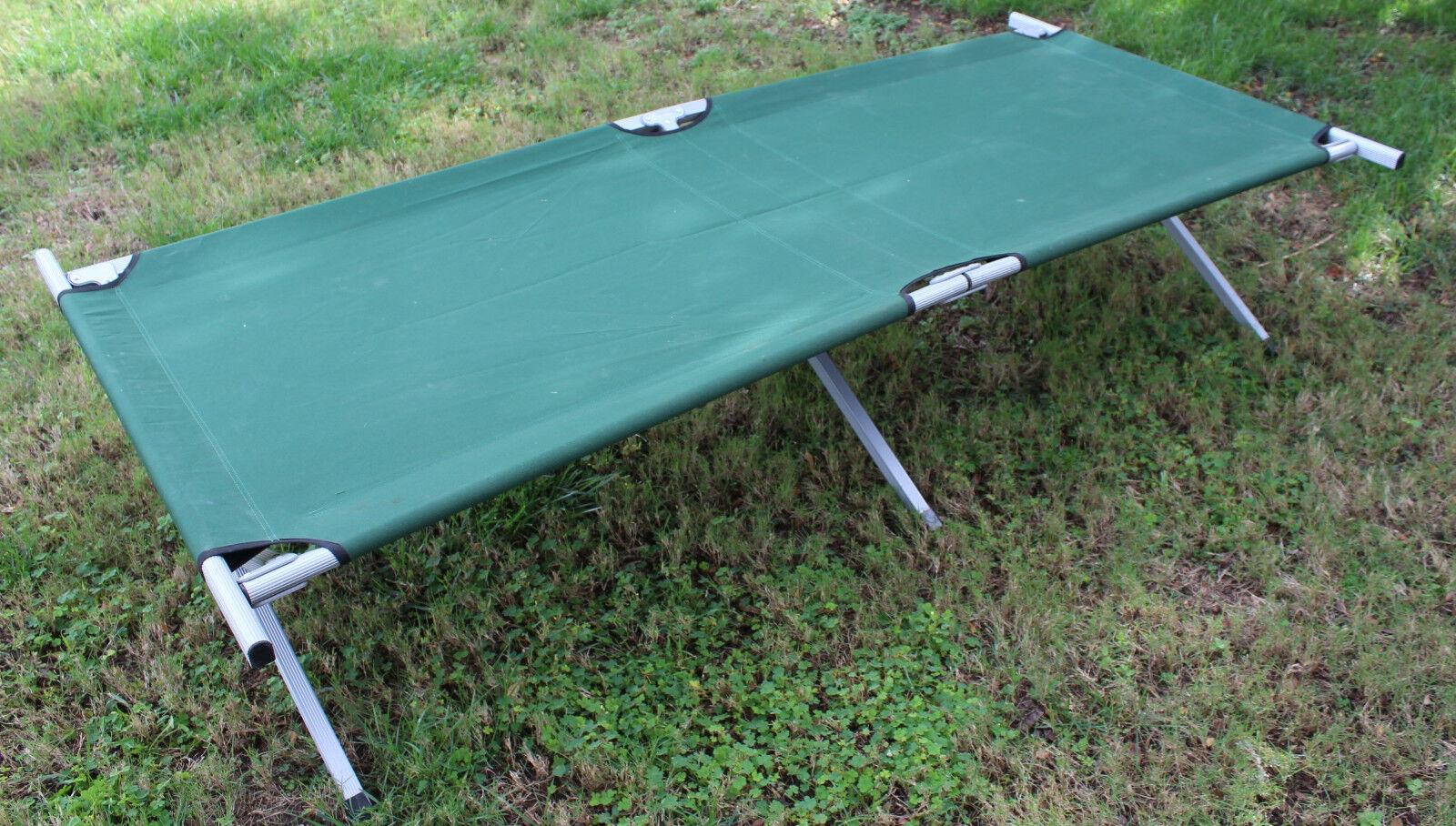 Aluminum Folding Cot Heavy Duty Sleeping Bed Green Lightweight