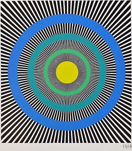 ISIA-LEVIANT-HAND-SIGNED-1985-LITHOGRAPH-KINETIC-OP-ART-Enigma-series
