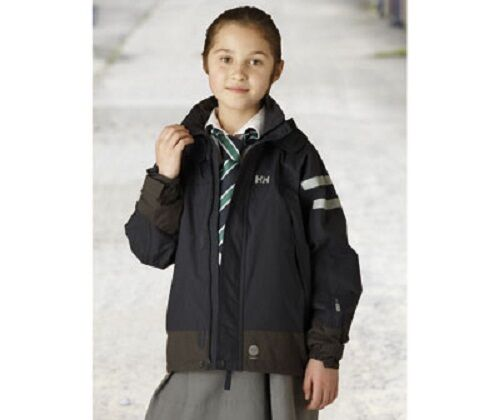NAVY BLUE GIRLS HELLY HANSEN SHELTER WATERPROOF JACKET AGE 7 BRAND NEW.
