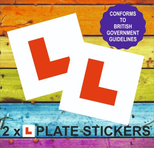 L PLATE STICKERS X 2 Learner Driver Stickers Conforms to GB regulations