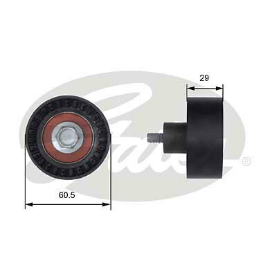 Poulie transmission GATES T41233 pour Ford Mazda