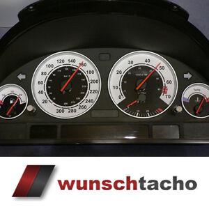 Tachoscheibe-fuer-BMW-E38-E39-E53-X5-034-Sport-034-300-Kmh-Benziner