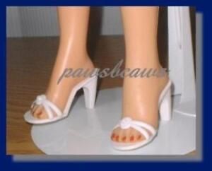 """Modern pair of 2/"""" Brown high heel doll shoes for 18/"""" Miss Revlon Doll"""