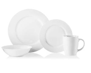 Image is loading Oneida-Natural-White-32-piece-Porcelain-Dinnerware-Set-  sc 1 st  eBay & Oneida Natural White 32-piece Porcelain Dinnerware Set Durable ...