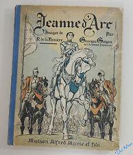 G. GOYAU Jeanne d'Arc Images de R. de La Nézière Mame vélin cartonnage illustré
