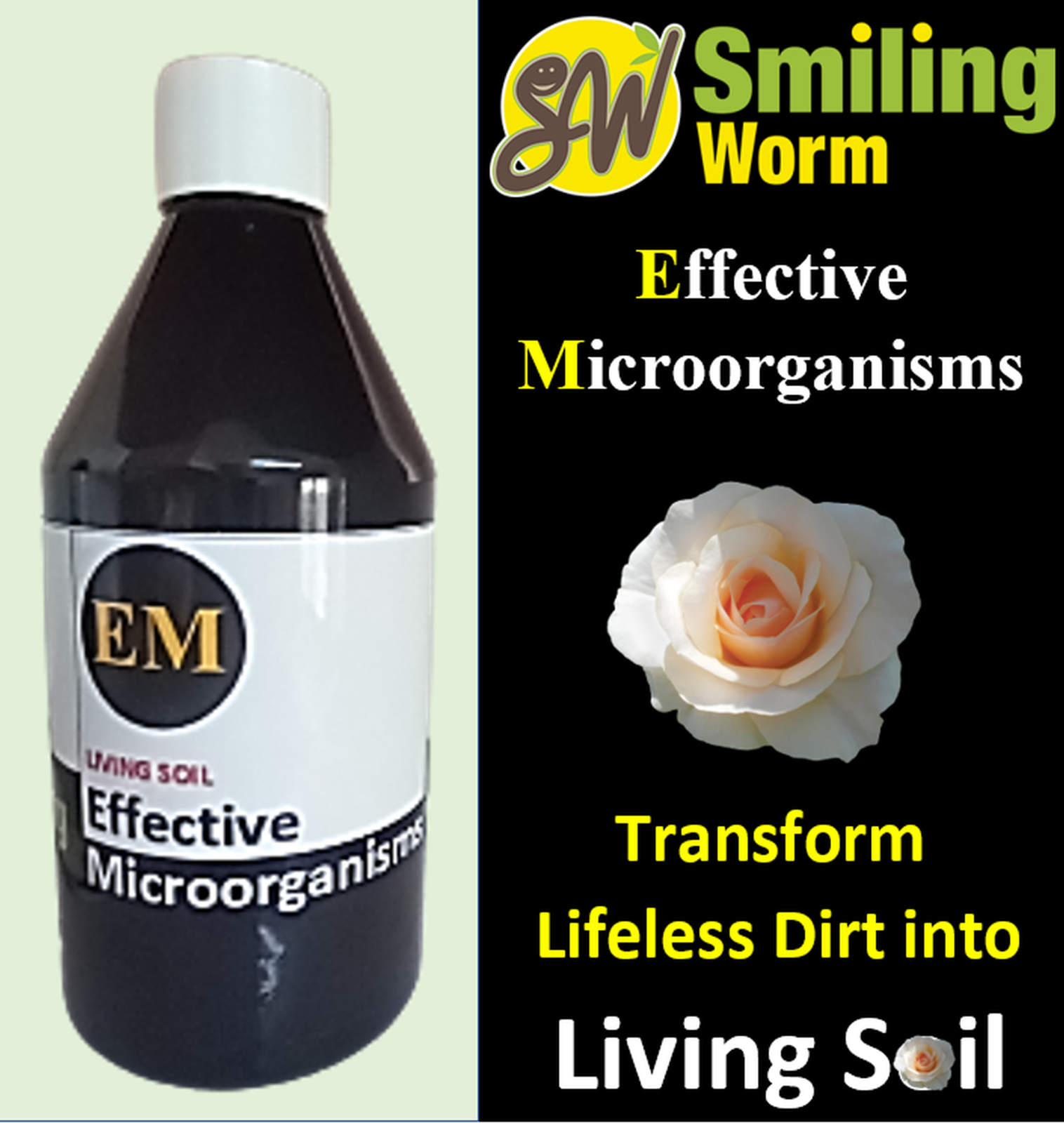 Effective Microorganisms for Potting Soil Mix, Organic Soil Improver for Roses