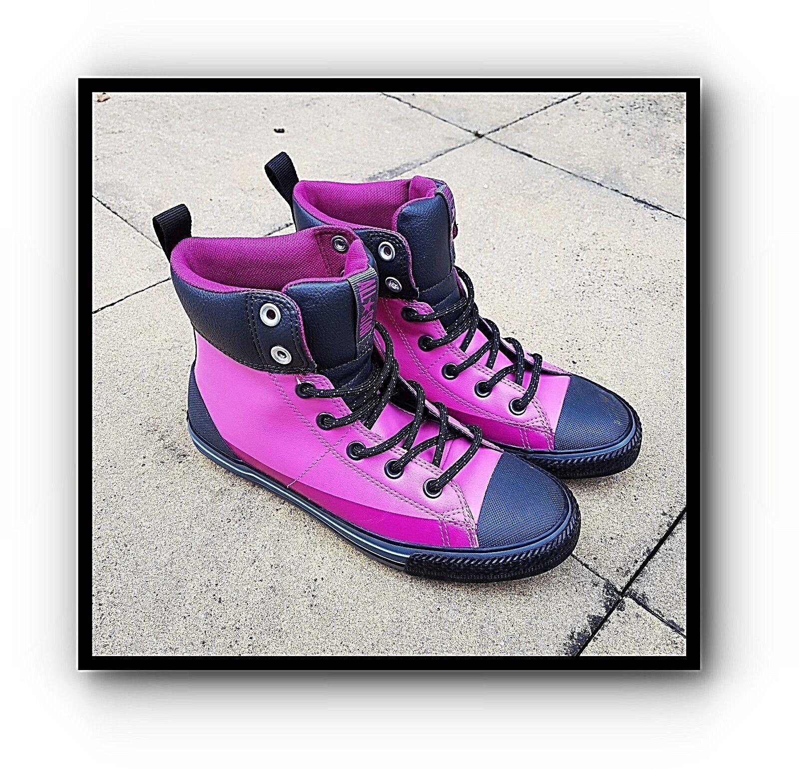 CONVERSE ALL STAR PINK BLACK VEGAN 80S HI-TOP TRAINERS RARE Schuhe HIPSTER 5 NEU❤