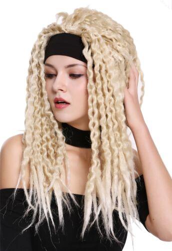 Perruque Halloween Carnaval Bandeau Dreadlocks Rasta Caraïbes Hippie Blonde Mix