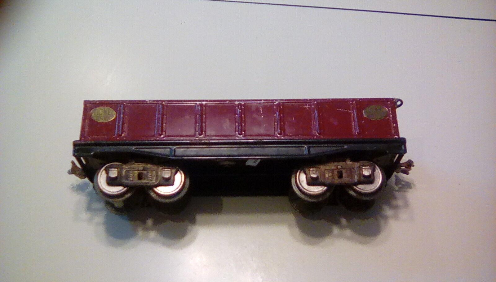 Lionel 212 prewar toy train standard gauge maroon metal gondola