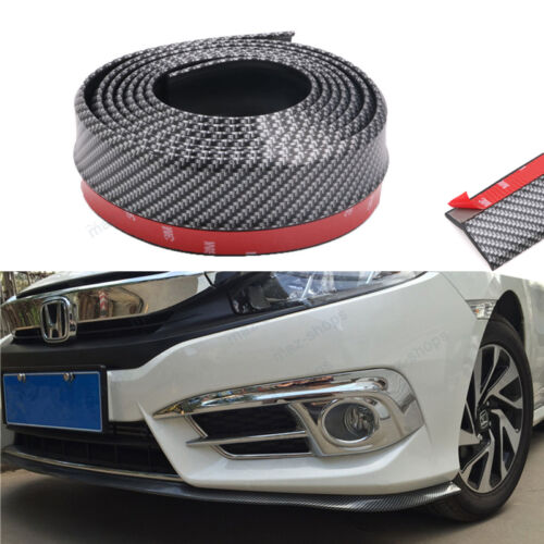 "PU Carbon Fiber 98/"" Front Bumper Lip Splitter Spoiler Chin Lip Skirt For Nissan"