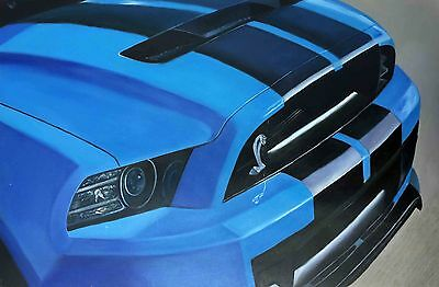 Ford Mustang Shelby Cobra GT500 427 Boss Mustang Racing Auto Car Art Painting