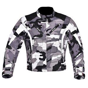 Para-Hombre-Chaqueta-Moto-Motocicleta-Cordura-Impermeable-Camuflaje-Ce-Blindado