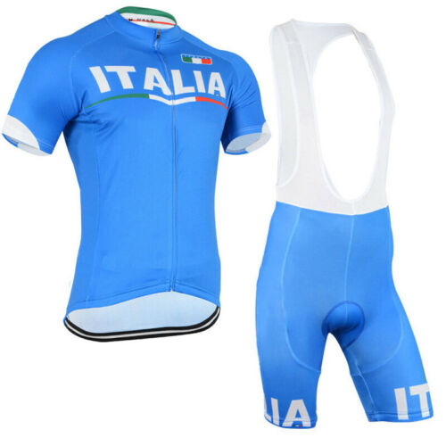 XSG297 Mens Cool Team Bicycle Cycling Short Sleeve Jersey and bib Shorts sport w