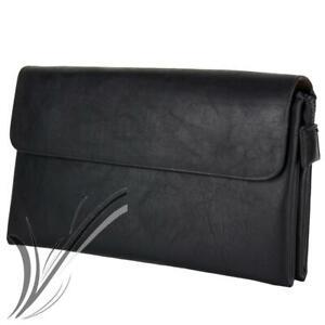 Borsello a mano nero da uomo pochette polso piccola borsa porta documenti chiavi