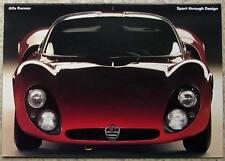 Alfa ROMEO SPORT a través de diseño GT Jnr 33/2 Stradale Giulia Sz Coupe + + Folleto