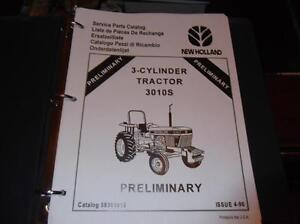 new holland 3010s 3 cylinder tractor parts manual ebay rh ebay ie Ford New Holland Tractors New Holland 3010 Tractor
