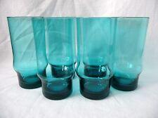 A Vintage Set of 6 'Turquoise' Scandanavian Glasses - Holmegaard, Riihimaki?