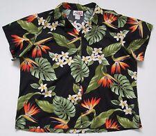 """VINTAGE Da Donna Kilani Hawaii USA Cotone Hipster camicia hawaiana/Tropical XL 49"""""""