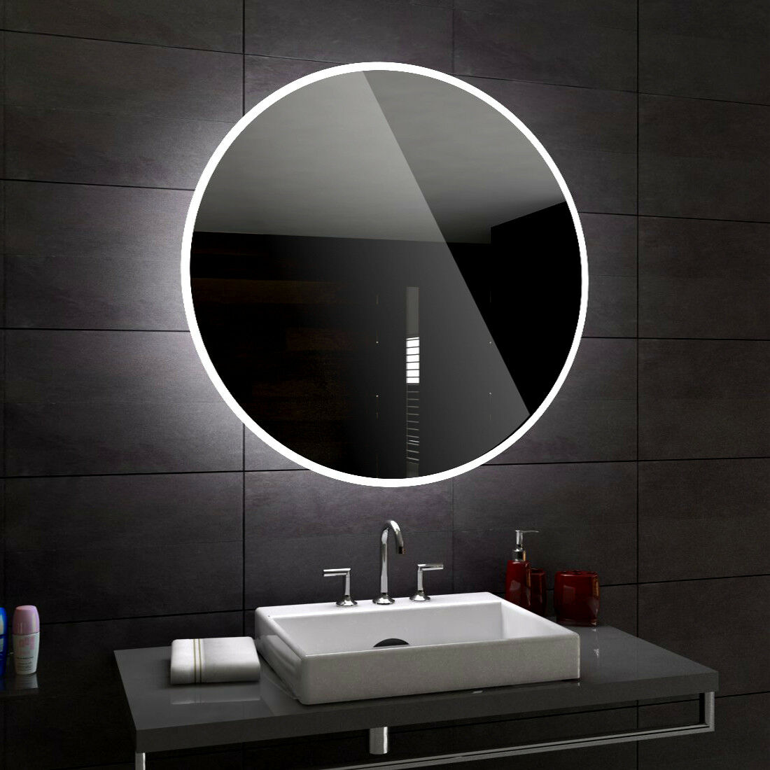 DELHI RUND Badspiegel mit LED Wandspiegel Badezimmerspiegel nach Mass jede jede jede Größe 13bd3f