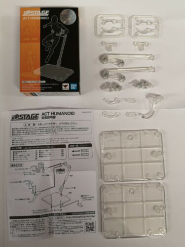 Bandai Tamashii Nations Stage Act Humanoid X 2 Clear Figure Stands a Box
