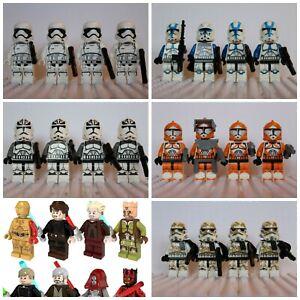 Star-Wars-Han-Solo-Luke-Jedi-Storm-Clone-Trooper-lego-Mini-Figures-Darth-Vader