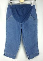 In Due Time Jeans 6 Cropped Maternity Medium Wash 4 Pockets With Tag