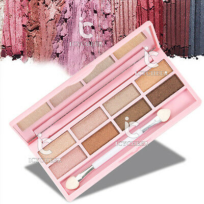 Nude Makeup Cosmetics 8 Colors Eye Shadow Palette Shimmer Eyeshadow Smoky Neutra