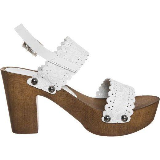 Replay Damen Dea Weiß Plateau Clog Sandale