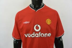 2000-02 UMBRO Manchester United Home Fotball Shirt SIZE L (adults ... 171ab5edc