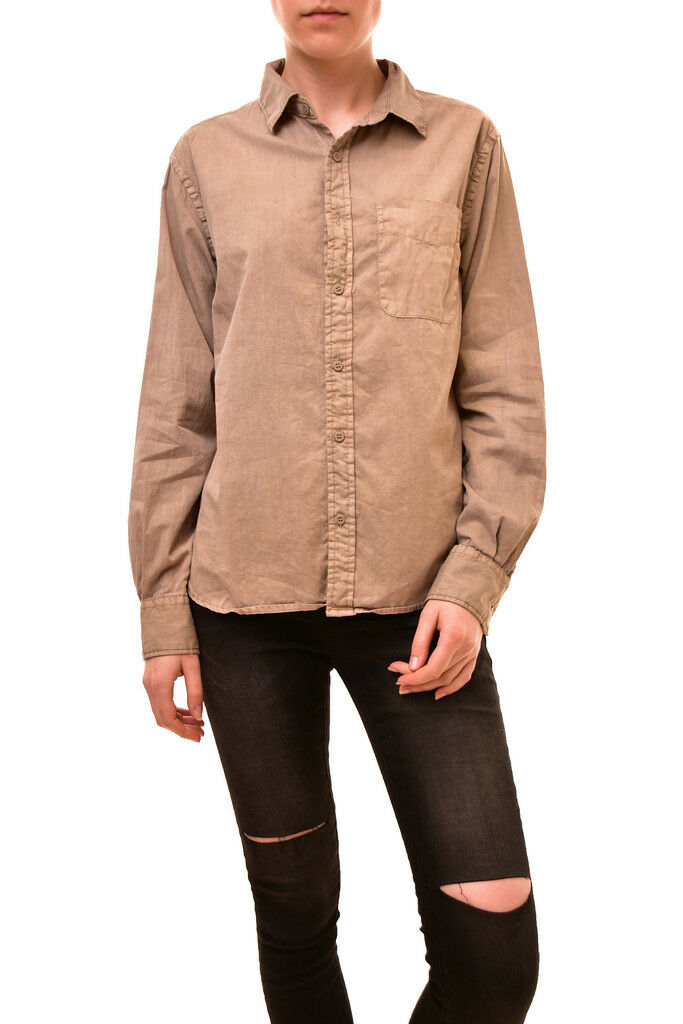 One Teaspoon Woherren Authentic Long Sleeve Shirt Ochre Größe S RRP  BCF85