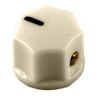 NEW - Small fluted, mini MXR style, knob with set screw, Cream