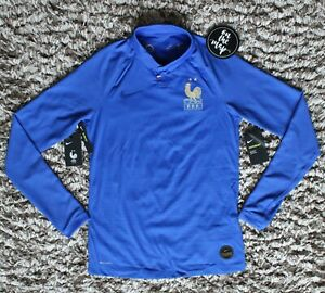Fußball-Trikots NIKE FRANCE FFF VAPOR MATCH CENTENNIAL SHIRT SMALL LIMITED EDITION AV6001-480