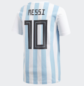 e0fe11c17 Adidas Lionel Messi Name Number Graphic Tee #10 Argentina CY1771 ...