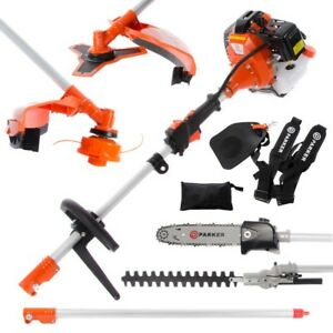 52cc Multi Function 5 in 1 Garden Tool - Brush Cutter, Grass Trimmer, Chainsaw,