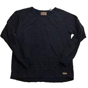The-Scotch-amp-Soda-Dark-Striped-Blue-Long-Sleeve-Sweater-Men-039-s-Size-Large-L