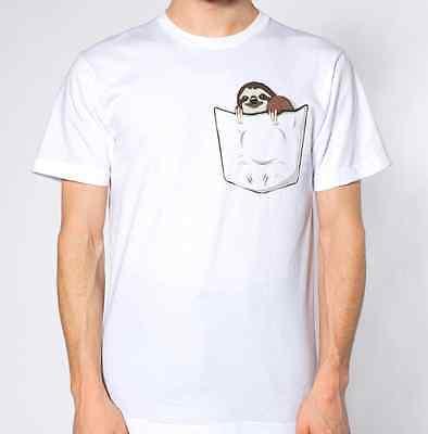 Fake Pocket Mini Pet Spirit Animal Funny Gift Idea Sloth T Tshirt