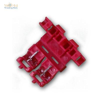 5 X Sicherungshalter Kfz Für Flachstecksicherung - Klemmbar, Rot Für 0,5-1,0mm²