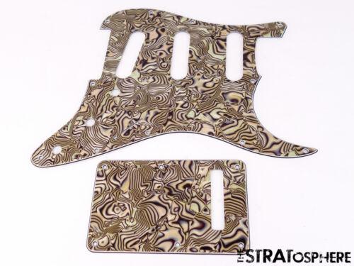 *NEW Bronze Abalone Stratocaster PICKGUARD /& TREMOLO COVER for Standard Strat