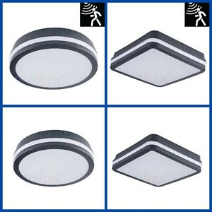 Ip54 Outdoor Wall Ceiling Mounted 18w Microwave Motion Sensor Bulkhead Led Light Ebay