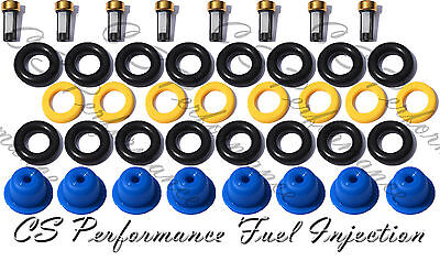 5.0 Ford V8 Fuel Injector Repair Service Kit Seals Filters Pintle Caps CSKBO18