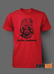Enter Sandman Metallica Star Wars Cadeau Bnwt Adulte T Shirt S-xxl Personnalisé-afficher Le Titre D'origine