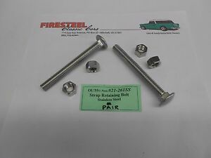 1955-1956-1957-Chevy-21-161SS-GAS-MOUNTING-STRAP-BOLT-KIT-Stainless-Steel