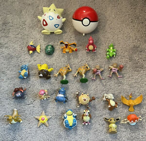LOT Of 23 Vintage Pokemon TOMY Figures + Pokeball  - *Exactly As Shown In Photos