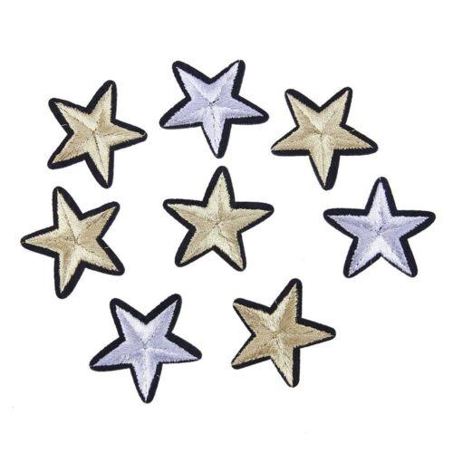 Fashion 12pcs 3D STAR Applique Broderie Patch Autocollant Iron On Sew Cloth patch