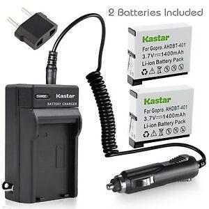 Kastar-Charger-Battery-for-AHDBT-401-Gopro-Hero-4-HD-GoPro-HD-HERO4-Black-Silver