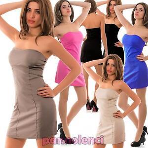 Caricamento dell immagine in corso Abito-miniabito-vestito-vestitino-donna -tubino-stretch-coppe- 04c5364f882