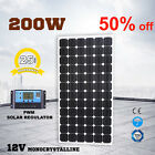 200W 12V Solar Panel Kit Caravan MONO Camping Power Charging PWM Regulator