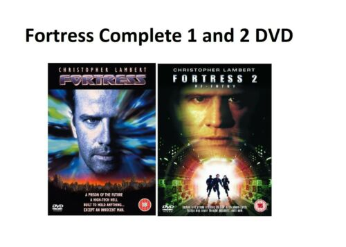 1 of 1 - Fortress 1 and 2 DVD Re Entry Christopher Lambert Loryn Locklin UK New Sealed R2