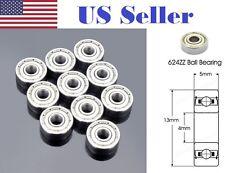 10pcs 624zz Steel Sealed Shielded Deep Groove Ball Bearing 4x13x5 Roller Bearing