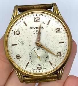 Divinal-Cal-as-130-Hand-Manual-Vintage-37-8-mm-Doesn-039-T-Works-for-Parts-Doesn-039-T